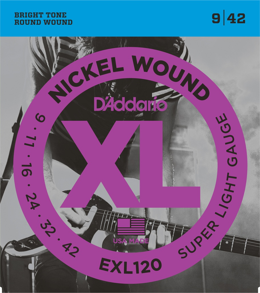Cordes Guitare Électrique D'Addario XL Nickel Wound 9-42