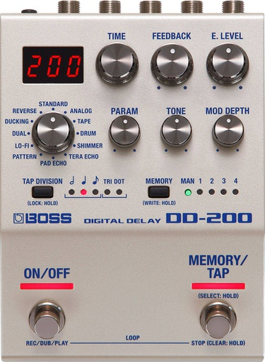 Pédale Boss Digital Delay DD-200