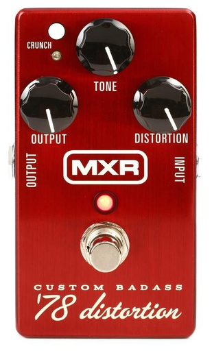 Pédale MXR Custom Badass '78 Distortion M78