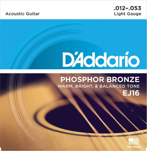 Cordes Guitare Acoustique D'Addario Phosphor Bronze 12-53