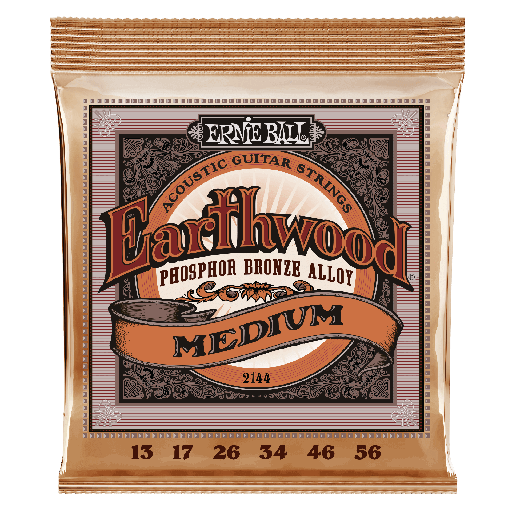 [2144] Cordes Guitare Acoustique Ernie Ball Earthwood 13-56