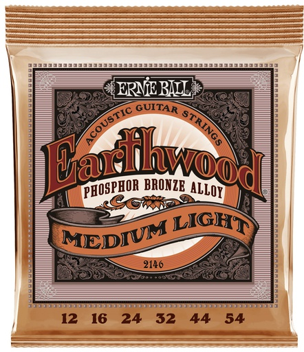 [2146] Cordes Guitare Acoustique Ernie Ball Earthwood 12-54