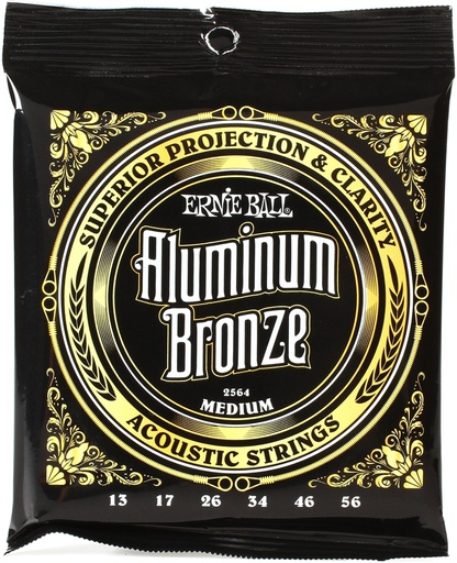 [2564] Cordes Guitare Acoustique Ernie Ball Aluminium Bronze 13-56