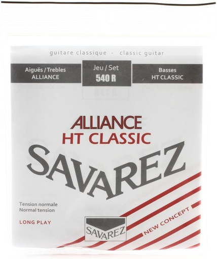 [540R] Cordes Guitare Classique Savarez Alliance HT Classic Tension Normale