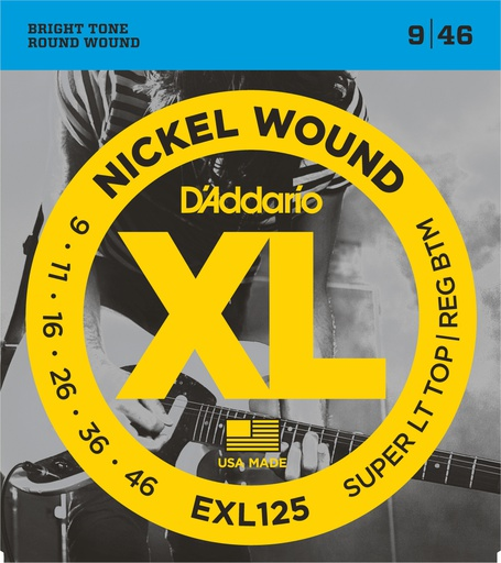 Cordes Guitare Électrique D'Addario XL Nickel Wound 9-46